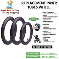 Stroller Front Back Wheel Inner Tubes Replacement For BoB Graco Joovy Burley 3pc