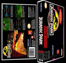 Jurassic Park - SNES Reproduction Art Case/Box No Game. Super Nintendo