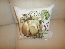 Southern Living Embroidered Pumpkin Fall Halloween Thanksgiving Throw Pillow Nwt