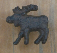 Cast Iron Moose Drawer Cabinet Door Knob Rustic Home Cabin Lodge Decor