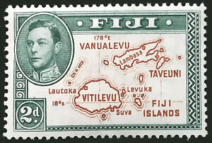Fiji Stamp 1938-55 2d King George VI Scott # 120 SG253 MINT OG H