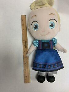 "Disney Store Frozen Elsa Doll 12"" Plush Stuffed Child Girl Princess"