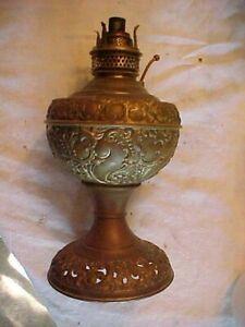 Complete Marked The New Rochester JR Junior Victorian Brass Kerosene Table Lamp