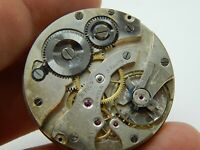 Antique Pocket watch movement Vintage Ch F Tissot & Fils 38.4mm 15 jewels 3 adj
