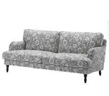 """IKEA New 403.063.67 STOCKSUND Slipcover 60 5/8"""" For Loveseat HOVSTEN Floral Gray"""