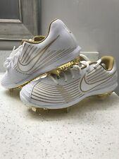 New listing Nike Lunar Hyperdiamond 3 Pro White Gold Softball Cleats CD0110-100 Womens Sz 10