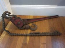 RARE BELL SYSTEM COFFING Patent 1933 Manual Chain Hoist Telephone Lineman Tool