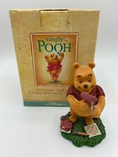 "Disney Simply Pooh ""Wobbly Hearts Are True"" Valentines Simply Pooh Figurine"