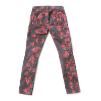JEN7 7 For All Mankind Women's High Rise Skinny Stretch Floral Print Jeans Sz 0
