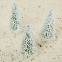 10Pcs White Model Train Trees Cedar Railroad Scenery Layout HO OO Scale 12cm