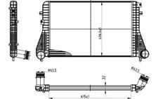 NRF Intercooler radiador admisión de aire Para VOLKSWAGEN SCIROCCO 30316