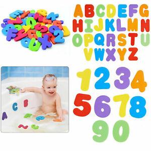 36x Niño Infantil Abc 123 Espuma Cartas Números Bañera Natación Juego Juguetes