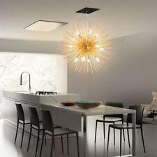 Gold Mid Century 9 Bulbs Brass Sphere Urchin Chandelier Light Pendent