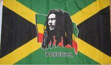 Bob Marley Flag 5'x3' Rasta Rastafarian Reggae Ska Roots Poster Wall Hang Banner