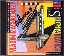 Vladimir ASHKENAZY Signiert SHOSTAKOVICH Symphony No.4 Decca CD Schostakowitsch