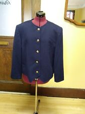 Hourihan by Jimmy Hourihan Navy Blue 100% Cashmere Blend Fully Lined Coat *EUC*