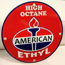 American Amoco Standard Gasoline gas oil sign. Free ship on any 8 signs