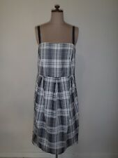 HOWARD SHOWERS DRESS CHECK PRINT BLACK & WHITE SIZE 16 NEW WITH TAGS! RRP$259