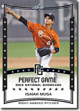 (12) ISAIAH MUSA 2014 Leaf *PERFECT GAME*  Baseball Rookie RC LOT