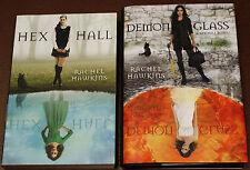 2 Rachel Hawkins Novels, HEX HALL & Demonglass WITCH WICCAN DEMONS TEEN NOVELS