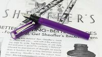Vintage sheaffer no nonsense purple barrel fountain pen - 1970 NOS - M nib