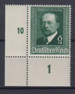 Deutsches Reich 760 Eckrand links unten 50 Jahre Diphterie Serum 6+ 14 Pf /1