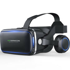 SHINECON 6 Generation G04E 3D VR Glasses Virtual Reality Headset with Earphones