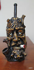 Collectible Smoking Tree Facce Tobacco Pipe Handmade and Painted