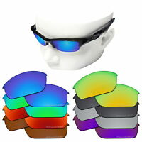 OOWLIT Replacement Lenses for-Oakley Flak Jacket Etched Polarized Sunglasses