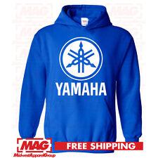 YAMAHA HOODIE Racing Motocross Hooded Sweatshirt Motox ATV White Logo OEM R1 R6