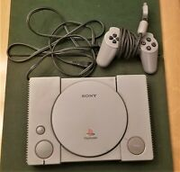 Sony Playstation 1 PS1 Console System SCPH-1001  Controller Tested W/ Cables