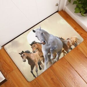 New Fashion Style Majestic Horse Print Carpets Floor Mat Outdoor Rugs Door Mats