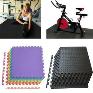 72Sq - 216 Sq Eva Foam Floor Interlocking Exercise Mat Gym Yoga Playground Pad