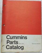 Cummins V-504 ENGINE PARTS MANUAL CATALOG 967144-B