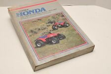 Honda ATC, TRX and Fourtrax 70-125, 1970-1987 by Ed Scott (1985) Silver Cover