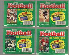 1985 TOPPS FOOTBALL STICKER PACKS 4 DIFFERENT VARIATIONS PAYTON-MARINO-MONTANA