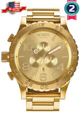 NEW Nixon 51-30 Chrono A083-897 All Gold A083897 Stainless Steel  Mens