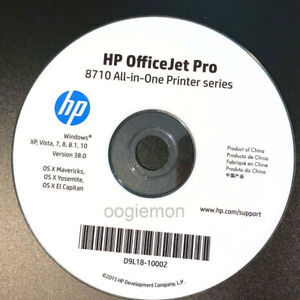 Setup CD ROM for HP OfficeJet Pro 8710 Series Software for Windows and Mac