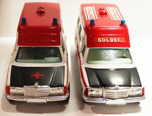 TWO Corgi Mercedes Bonna ambulance NICE CONDITION