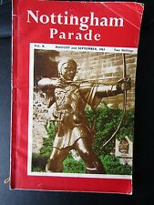 VINTAGE BOOK / MAGAZINE NOTTINGHAM PARADE 1963 128 pages