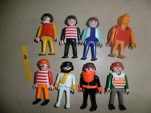 Playmobil Figure lot - 8 x older style figures