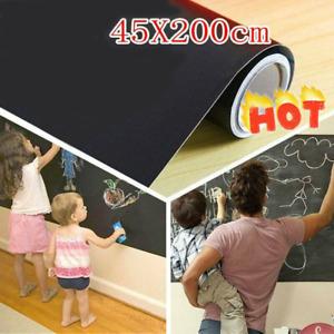 45*200cm Kid Chalk Board Removable Blackboard Vinyl Draw Rooms Art Wall Stickers