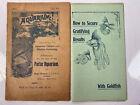 Antique Aquarium Hugo Mulertt 1909 Advertisings Booklets (2) 4 magazine The Aqua