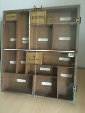 More details for vintage 1960's wooden cigar counter display case players, wills churchmans
