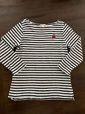 J Crew Crewcuts Girls Blue White Striped 3/4 T-shirt Size 12 New Other Free Ship