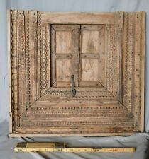 Antique Carved Islamic Door wooden wrought iron Moroccan 19th c minbar decorated