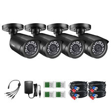 ZOSI 4PK 1080p TVI Security Cameras Outdoor 80ft Night Vision for Home CCTV Kit