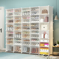 Storage Organizer Shoe Rack Clear Door Unit Cube Cabinet 10Tier Shelf Stackable