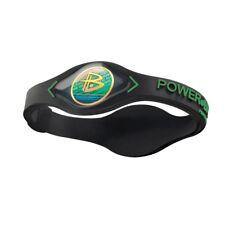 BRACELET POWER BALANCE Wristband Black Green Noir ENERGIE EQUILIBRE FASHION M