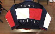 Vintage Rare Tommy Hilfiger Big Flag Logo Spell Out Reversible Jacket XL Supreme
